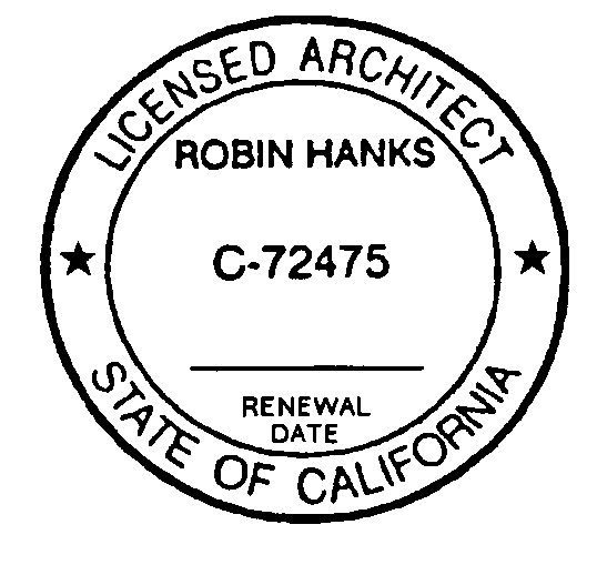 Sample of an Architect's Stamp with Handwritten Renewal Date